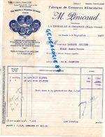 87 -  LA CROISILLE SUR BRIANCE - FACTURE- M. PENICAUD ANC. MAISON SAGE BRIVE- FABRIQUE CONSERVES 1953 - Factures & Documents Commerciaux