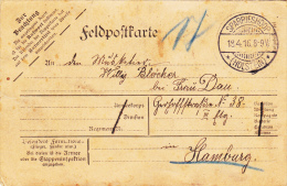 Feldpost WW1: Feldpostcard With Unused Reply Card From Unknown Mil.unit Dtd Sparrieshoop (Holstein) 18.4.1916 Mailed To - Militaria