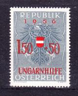 AUSTRIA   1956 ,  Help For Hungary   , Y&T  #  863,  Cv   1.00 E , **  M N H , V V F - 1945-60 Nuovi & Linguelle