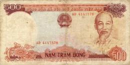 BILLET # VIET NAM  SUD # 1985 # 500 DONGS # PICK 87  # BILLET CIRCULE # - Vietnam