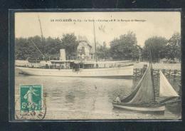 """44 - LE POULIGUEN : Le Yacht """"Caroline"""" à M. Le Marquis De Montaigu - Le Pouliguen"""