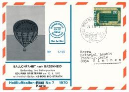 SUISSE - 1 Carte Commémorative - Vol En Ballon - BAZENHEID 1971 - Airmail