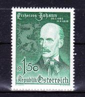 AUSTRIA   1959 , Jean Of Austria Archduke   100 Years  Death  , Y&T  #  903     Cv  0.80 E , **  M N H , V V F - 1945-60 Unused Stamps