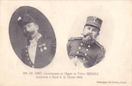 GENT     -POLITIE -- MM DE SMET  Commissaire Et L'Agent   De Police Gyssels Assassinés à Gand Le 16/2/1909 - Gent