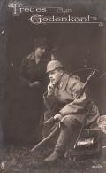 Photocarte Allemande- Treues Gedenken 1917 HERGATZ (PFB N°3600/4) (guerre14-18)2scans - War 1914-18
