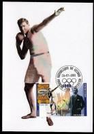 Republic De Guinee Olympics Ralph Rose On Kind Of Maximcard Or Memorycard 2001