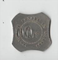 FRANCE.CHALONS .100F .LES DEUX 0 PERFORES.SOCIETE CONSOMATION DE L EST.1883 - Monetari / Di Necessità
