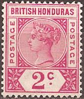 BRITISH HONDURAS..1891..Michel # 32...MLH. - British Honduras (...-1970)