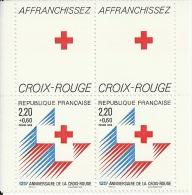 2555 CROIX ROUGE 1988 Duo De Carnet Avec Vignette - France