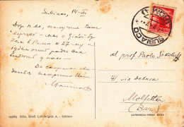 Italy 1947  4 Lire On Postcard From Subiaco To Molfetta - Unclassified