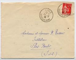 Enveloppe Postée à LUBLE Indre Et Loire En 1936 - Arrivée PORT BOULET, Très Beaux Cachets - Postmark Collection (Covers)