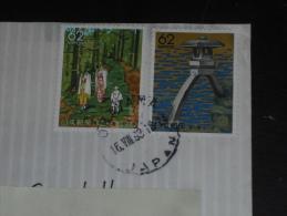 LETTRE JAPON JAPAN NIPPON AVEC YT 1772 ET 1879 - PARC KENROKU EN - VIEUX SENTIER DE KUMANO - - Lettres & Documents
