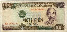 BILLET # VIET NAM  # 1987 # 1000 DONGS # PICK 90 # BILLET CIRCULE # - Vietnam