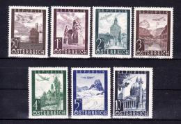 AUSTRIA   1947 , Landscapes    , Y&T  Air #  47/53  Cv  13.00 E , **  M N H , V V F - 1945-.... 2a Repubblica