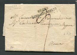 1819  RARA   PREFILATELICA DA    MILANO  X    ROMA   REGNO LOMBARDO VENETO  TASSAZIONE 9 - Italia