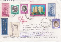 Italy 1977 Registered Cover  To Australia - 6. 1946-.. Republic