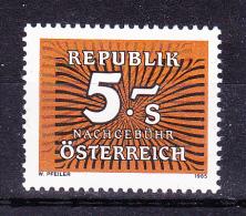 AUSTRIA   1985 ,  5 Sh  Perf 14    , Y&T  Taxe  #  254 Cv  1.10 E , **  M N H , V V F - Postage Due