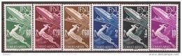 IF89-L4068TAN.Marrucos.Maroc .Marocco, IFNI ESPAÑOL.Fauna,Gacela Y Avion.1953.(Ed 89/94**) Sin Charnela.LUJO - 1951-60 Nuevos & Fijasellos