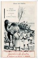 T/ Publicité Jourdain-Le Loutre, à Angers : Fables De La Fontaine : Le Chameau Et Les Bâtons Flottants (2 Scans) - Publicités