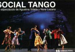 TEMATICA DANZA SOCIAL TANGO COMPLEJO TEATRAL DE BUENOS AIRES CARTONCINO PUBBLICITARIO FORMATO  CARTOLINA - Pubblicitari