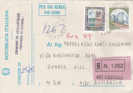 Italy 1994 Electoral Card Registered Sent To Australia - Italy