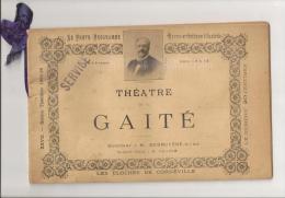 @ THEATRE DE LA GAITE DE CLAIREVILLE PROGRAMME 1895 96 + NOMBREUSES PUB PUBLICITE S RECLAME - Programmi