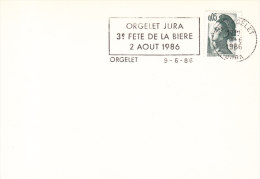 1986 France 39 Orgelet Jura Biere Beer Bier Birra Cerveza - Beers