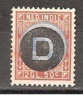Nederlands Indie Dutch Indies Netherlands Indies D 7 MLH ; Dienst Zegel, Service Stamp, Timbre Cour, Sello Oficio - Indonésie