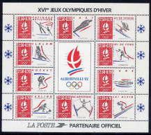 FRANCE 1992 Winter Olympics: Albertville Sheetlet  MNH / **.  YT Block 14, SG MS2963 - France