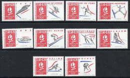 FRANCE 1992 Winter Olympics: Albertville 10 Stamps From Sheetlet  MNH / **.  Ex YT Block 14, SG MS2963 - France