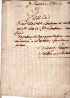 VP893 - MONTEREAU 1798 - Acte Vente D'une Maison Mrs ROUSSEAU - Seals Of Generality