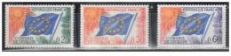 Francia - 1965 - Nuovo/new - Consiglio D'Europa - Mi N. 10/12 - Nuovi