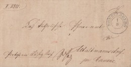 Brief Münsterberg 1.8.1855 Gelaufen Nach Altmannsdorf - Germany