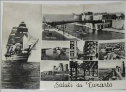 TARANTO - Saluti Da Taranto - 8 Vedute - Nave Scuola Amerigo Vespucci - 1956 - Taranto