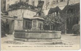 Salins  Les Bains  -  Fontaine Du Vugneron, Statue Par Max Claudel (1864)  -  Datée 12 Aout 1919 - Other Municipalities
