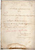VP895 - NOISY ( 77 ) 1790 - Acte Bail à Rente Mr COMBLE X HAYE Racheté Par L. BOIS En 1809 - Seals Of Generality