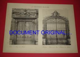 LA FERRONNERIE FRANÇAISE XVIIe Et XVIIIe - Palais De Justice - Invalides - Porte De La Cour D'Honneur ( Grilles...) - Other Plans