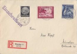 DR Orts-R-Brief Mif Minr.512,775,779 München 27.6.41 - Briefe U. Dokumente