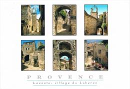 LACOSTE Village Du Lubéron - Les Grands Sites De PROVENCE - Multi-vues (6) - Circulée, 2 Scans - Francia