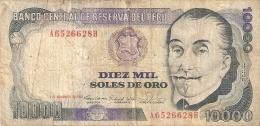 BILLETE DE PERU DE 10000 SOLES DE ORO DEL AÑO 1981  (BANK NOTE) - Pérou