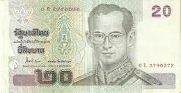 BILLETE DE TAILANDIA DE 20 BAHT   (BANKNOTE) - Tailandia