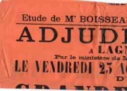 VP899 - LAGNY 1907 -  étude De Me BOISSEAU Vente D´une Maison à LAGNY Rue Saint / Denis N° 49 - Posters
