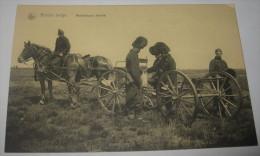 Armée Belge - Mitrailleuse Attelée - Belgian Army - Militaria