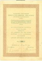 NED. INDIE * AANDEEL BISCUITFABRIEK PELANGI TE SOERABAJA Uit 1931 GROOT DUIZEND GULDEN  + TALON - Shareholdings