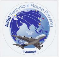 Autocollant Airbus - A380 Technical Route Proving - Autocollants