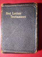 - THE NEW TESTAMENT RED LETTER - NOUVEAU TESTAMENT LETTRE ROUGE - - Biblia, Cristianismo