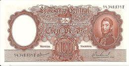 ARGENTINE 100 PESOS ND1967-69 AUNC P 277 - Argentina