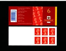 GREAT BRITAIN - SELF-ADHESIVE BOOKLET 6 X 1st   MINT NH  MB 1 - Libretti