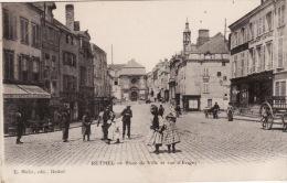 RETHEL- Place De Ville Er Rue D'Evigny (edts Mulot) - Rethel