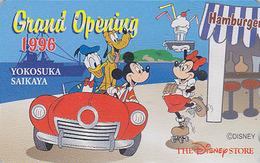 Télécarte Japon / 110-181157 - DISNEY STORE GO -MICKEY MINNIE Donald Glace Ice Cream Patin - 1996 Japan Phonecard / 4000 - Disney